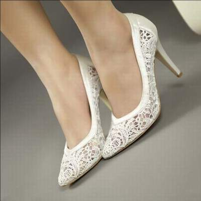 b6cde2f2ec4 chaussures compensees ivoire mariage